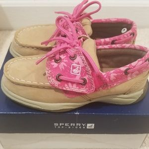 sperry pink wildflower girl size 9